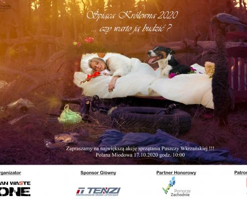Wataha bieg extreme wolf śpiąca królewna zbieranie śmieci sprzątanie lasu ekologia eko zero waste, human waste zone